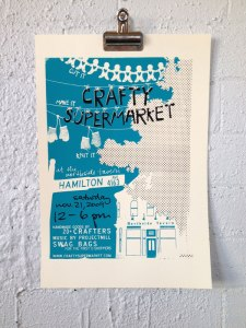 2009 holiday craft show poster cincinnati