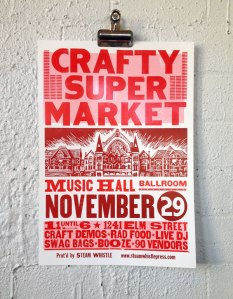 2014 holiday craft show poster cincinnati