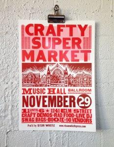 2014 holiday craft show poster cincinnati