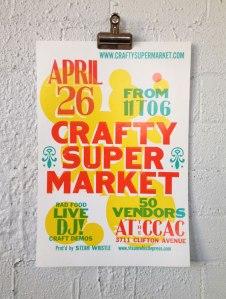 2014 spring craft show poster cincinnati