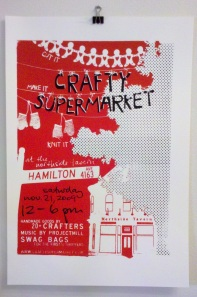 crafty supermarket poster, cincinnati ohio, holiday 2009
