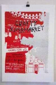 crafty supermarket poster, cincinnati ohio, holiday 2009