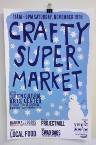 crafty supermarket poster, cincinnati ohio, holiday 2011
