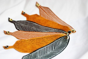 excitations handmade accessories leather feather cuff