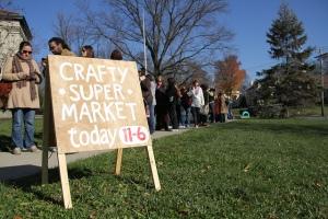 crafty supermarket sign, cincinnati, oh craft show