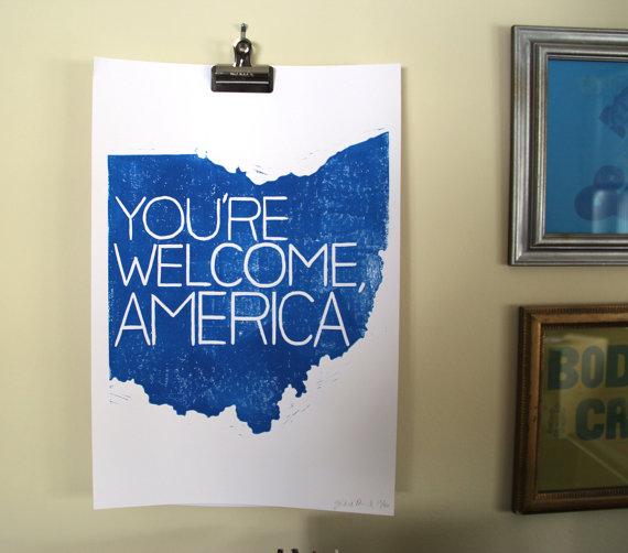 gracie sparkles books you're welcome america ohio poster