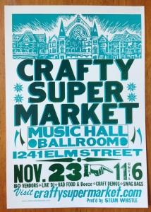 crafty supermarket craft show poster