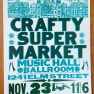 crafty supermarket craft show poster