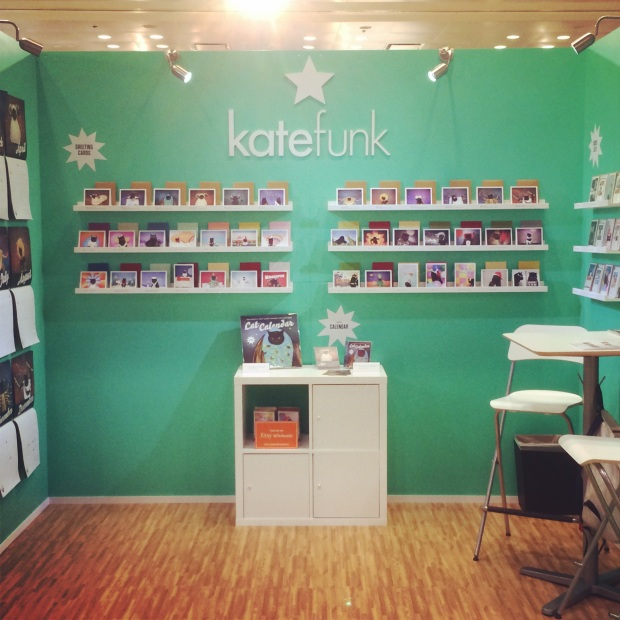 kate funk at the national stationery show, signature mix