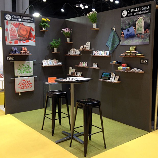 visualingual booth at the national stationery show, signature mix