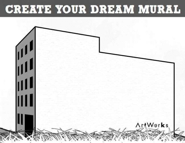 artworks coloring book mural buildings